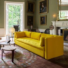 The Wrong for Hay Hackney Three Seater Sofa has a foldable upholstered frame allowing the generous to be manoeuvred easily. Sofa Design, Hay Design, Interior Design, Design Shop, Sofa Furniture, Furniture Design, Designer Couch, Yellow Sofa, Danish Design Store