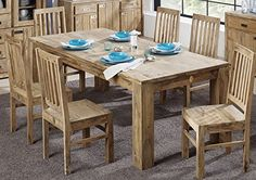 Sheesham Massivholz massiv Möbel geölt Esstisch 200x100 Palisander Möbel massiv Holz Nature Brown #826