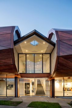 New Zealand-based firm Archimedia designed this remarkable building for Te Oro…