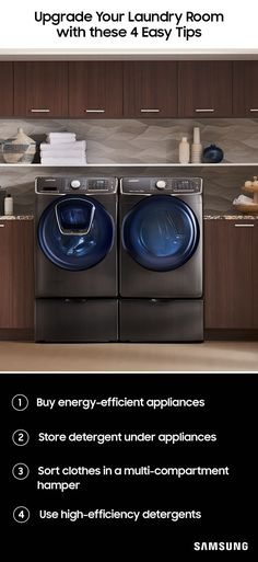 Organizing your laundry room can turn 'laundry day' into a matter of hours. Our four step guide will make sorting clothes, pretreating stains, finding lost socks, and folding clean shirts faster and more efficient. Discover the best way to set up your appliances to maximize space and save time.