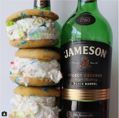 Whiskey-infused ice cream sandwiches are every adult's summer dream come true.