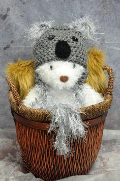 Koala Baby Hat by JLloPhotographyProps on Etsy, $27.99