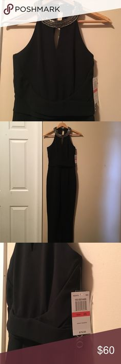 Xoxo jumpsuit Beautiful jumpsuit made by xoxo. Size xs. Beaded neckline with an open back. Easy slip on with zipper on the back. Looks great on! NWT XOXO Other