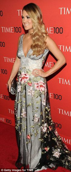 Ethereal: Carrie Underwood in the Claire Pettibone 'Raven' dress at the TIME 100 GALA!! http://www.clairepettibone.com/raven | Photo: Getty
