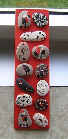 Best Painted Pebbles and River Stone Crafts Pebble Painting, Pebble Art, Stone Painting, Rock Painting, Stone Crafts, Rock Crafts, Arts And Crafts, Pebble Stone, Stone Art