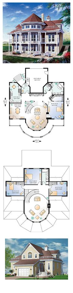 Coastal Victorian House Plan 64807