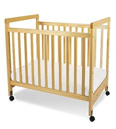 5390cdb96bb Foundations SafetyCraft Compact Size Clearview Crib in Natural - 1632040 -  Cribs - Nursery Furniture - Baby   Kids  Furniture - Furniture