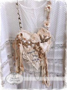Fabric Art Necklaces | ***My Desert Cottage | Bloglovin'