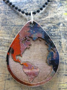 Reclaimed Skateboard Necklace by MuKee on Etsy, $24.00