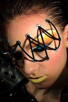 extreme face makeup   ... laces, face makeup, glue on makeup, Makeup Freddy Lopez Mixed Media