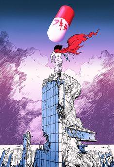 Film Anime, Anime Manga, Anime Art, Akira Poster, Akira Anime, Katsuhiro Otomo, Neo Tokyo, Cyberpunk Art, Cyberpunk 2020