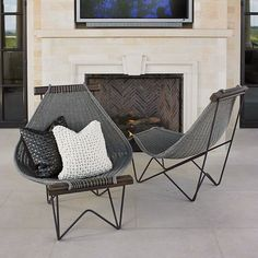 Global Views 7.20074 Spinnaker Chair Grey Furniture Outdoor Furniture Outdoor Lounge Chairs