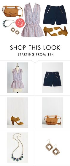 """""""Great Gal in the Corner Office Top"""" by modcloth ❤ liked on Polyvore featuring Bali, Summer, Spring, modcloth and fannypack"""