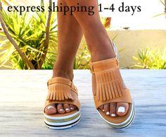 LETO sandals/ woman Greek leather sandals/ fringe sandals/