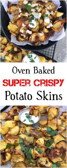 crispy | crunchy | potato skins | ranch | oven baked |