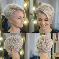 Modern Short Hairstyles, Short Layered Haircuts, Pixie Hairstyles, Short Grey Hair, Short Hair With Layers, Girl Short Hair, Thin Hair Cuts, Short Hair Cuts For Women, Short Hair Styles