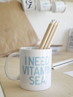 Keramikkrus - I Need Vitamin Sea