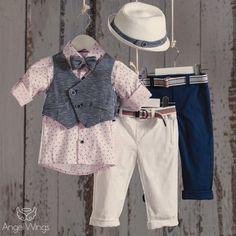 Βαπτιστικό Σύνολο για Αγόρια Happy Kids | Angel Wings 086 Boy Christening, Cool Baby Stuff, Boy Outfits, Baby Goods, Shirt Dress, Boys, Mens Tops, Shirts, Clothes