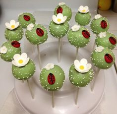 lady bug cake pops
