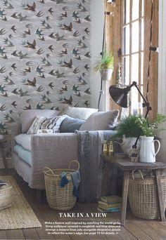 Chimney Swallows Wallpaper Designer Guild