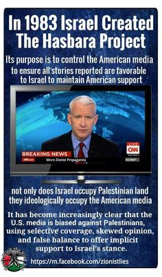 A good definition of the 'Hasbara'fantasy,which,of course,is a variation on the 'Zionists control the media'mantra.Any reportage on'Palestine'not partisan against Israel,is of course,'Hasbara'.You know it make sense.. Social Media Measurement, Communication Theory, Cnn Breaking News, Freedom Of Speech, History Facts, Oppression, Israel, Knowledge, Palestine