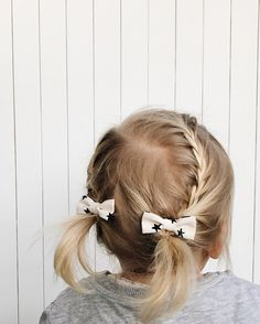 Toddler hair styles. Little braids. Mini bows from Billy Bibs.