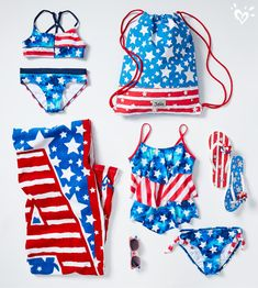Our red, white & blue swimwear & accessories: how star swimmers earn their style stripes.