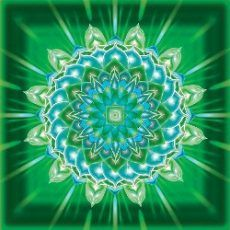 Egészség mandala-Energiát adó öntapadós mandala matrica 18 cm