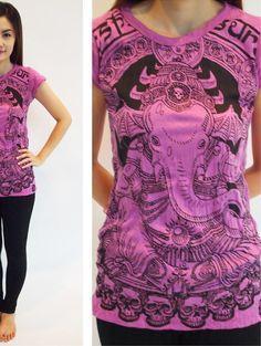 T-Shirt Batman Ganesh für Frauen von Sure Design aus Thailand