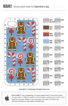 gingerbread cross stitch design for iPhone 4S
