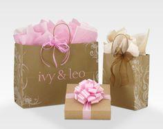 Carolina Retail Flourish Natural Kraft Shopping Bags