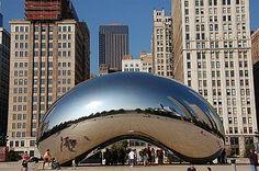 """Cloud Gate,"" or the Bean, Millenium Park, Chicago."