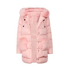 Yoins Pink Zipper Front Hooded Coat (4.025 RUB) ❤ liked on Polyvore featuring outerwear, coats, hooded coat, pink coat and pink hooded coat