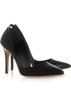++ cutout pointed patent leather pumps