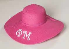 Sorority monogrammed straw hats are a perfect addition to your Carolina Cup outfit!
