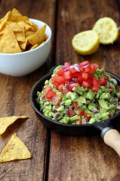 Rainbow Guacamole and Chips | Dish by Dish