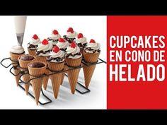 Cupcakes en Cono de Helado - YouTube