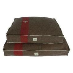 Bella Bean Dog Bed, crafted from vintage wool blankets. This would be sweet made out of HBC point blankets.