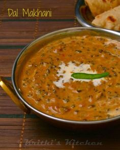 Krithi's Kitchen: Dal Makhani | Indian Curry Recipes