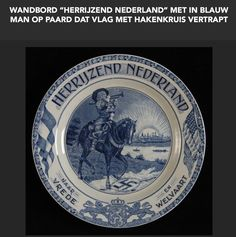 "Wandbord ""HERRIJZEND NEDERLAND"" by Société Céramique N.V. Maastricht"