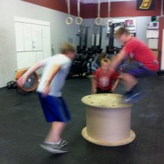 CrossFit Kids box jumps