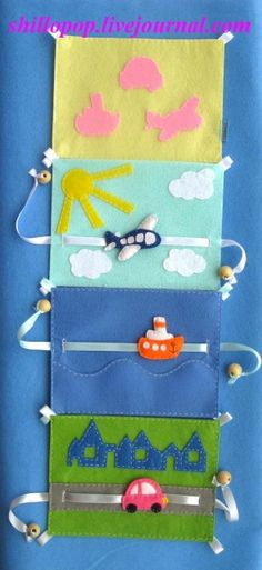 I would like to do the pullie idea in a quiet book.- I would like to do the pullie idea in a quiet book. Possible with cars on the ro… I would like to do the pullie idea in a quiet book. Possible with cars on the road. Diy Quiet Books, Baby Quiet Book, Felt Quiet Books, Baby Crafts, Felt Crafts, Crafts For Kids, Silent Book, Quiet Book Patterns, Book Quilt