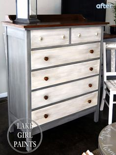 See this gray and white-washed dresser makeover at betterafter.net
