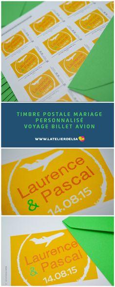 Timbre Postal MariagePersonnalisé Voyage pour un... | Faire-part & Invitation Blog