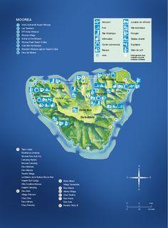 beautiful sailing destination: Moorea in French Polynesia Vacation Wishes, Vacation Spots, South Pacific, Pacific Ocean, Maldives, Moorea Tahiti, Bali, Travel Maps, Cook Islands
