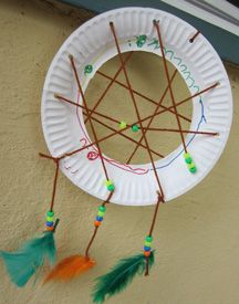 Dreamcatcher craft and lacing activity