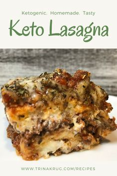 Easy Keto Recipe Meat Lasagna - Trina Krug