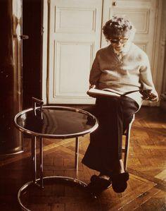 Wonderful photo of designer Eileen Gray.