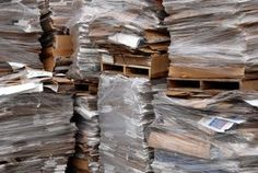 After pulping cardboard can become a long-lasting papercrete building material.