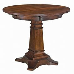 Kincaid Rosecroft Solid Wood Round Pub Table With Wood Top 78 058P